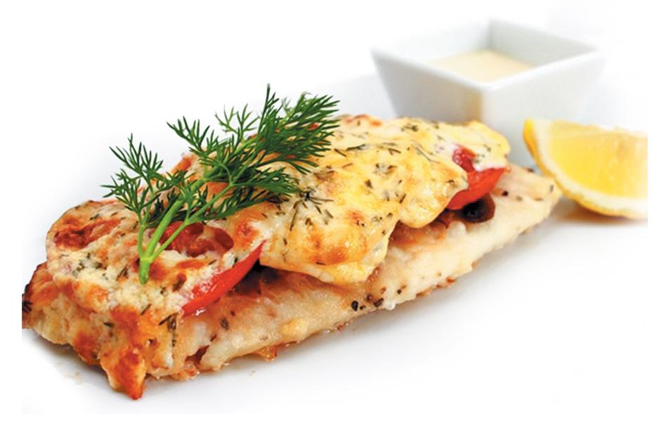рецепт филе в духовке с грибами и помидорами